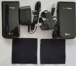 Lg Exalt Flip Phone Pair Black Car Charger And Wall Charger