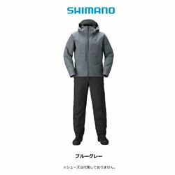 Shimano Gore-tex Warm Suits Rb-017t Cold Weather 2xl Blue Gray Japan