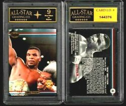 Scarce Mike Tyson Boxing 1991 Ringlords Sample Card Graded Asg 9 Nm B