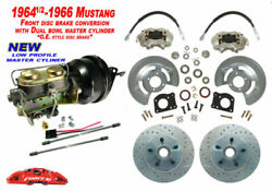 1964-66 Ford Mustang Front Drum To Power Disc Brake - Low Profile M/c Xd Rotors