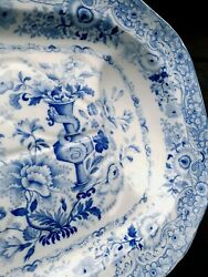 Outstanding Antique Minton Florentine Opaque China Ironstone Platter, 20.5 Inch