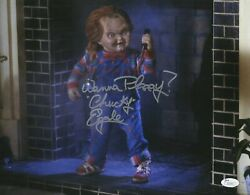 Ed Gale Signed Chucky Childs Play 11x14 Photo Autograph Picture Jsa Coa
