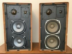 Vintage Modified Braun Ag L710 Speakers Serial Nos. 39308 And 39309