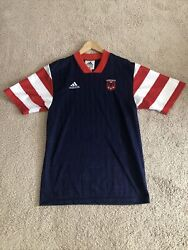 Vintage 1997 Dc United Mls Adidas Soccer Jersey Cat In The Hat Perfect Cond
