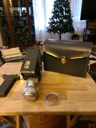 Vintage Mansfield Reflex Holiday Zoom Wind-up Turret Style Movie Camera And Case