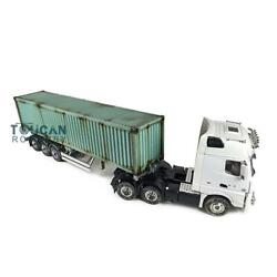 1/14 Hercules Rc Tractor Truck 40ft Metal Chassis Semi-trailer Painted Container