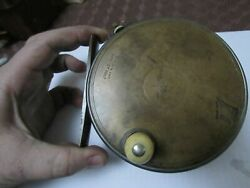 Stunning Vintage Hardy 1906 Brass Faced Perfect Salmon Fly Fishing Reel 4.25