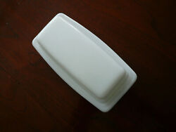 Vintage Pyrex Milk Glass Opal Frost White 72-b Butter Dish With Lid Usa