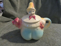 Vintage Shawnee Teapot Tom Tom The Piper's Son 44 Clown And Pig