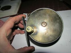 A1 Stunning Vintage Hardy 1896 Brass Faced Perfect Salmon Fly Fishing Reel 4