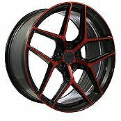 22x8.5 22x10 5-112 Str908 Staggered Magic Red Made For Audi A7