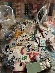 Big Lot Of Vintage Buttons 5 Lbs Estate Buttons