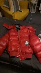 Alexander Mcqueen Leather Bomber Jacket Brand New Retail Price Andpound4195