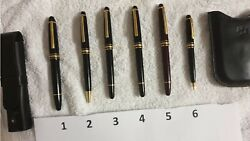 Writing Pens/pencil. Five Black Gold-coated, One Red Gold-coated..sold A A Set