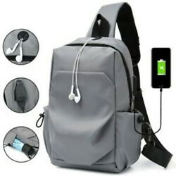 Men#x27;s Anti theft Chest Sling Bag Crossbody Shoulder Bags Casual Daypack Backpack $9.99