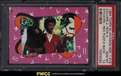 1984 Topps Michael Jackson Series 1 Stickers Red Puzzle Back 19 Psa 10 Gem Mint