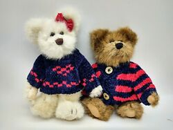 Boyds Bears Yankee and Doodle McBear Set of 2 Plush Bears QVC Exclusive