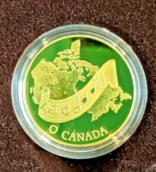 Canada 1981 National Anthem Commemorative 100 Gold Proof Coin With Box And Coa