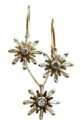 La Traviata 14k Gold And Diamond Earring And Necklace Set Museum Of Jewelry