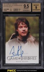2012 Game Of Thrones Season 1 Full Bleed Alfie Allen Theon Greyjoy Auto Bgs 9.5