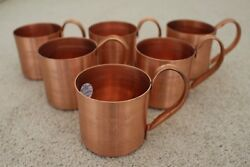 Patron Tequila Ultimat Vodka Moscow Mule Copper Cup Set Of 6 Brand New