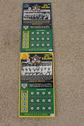 2005 Negro League Lottery Tickets Washington Dc Lottery Unscratched Lot Of 20