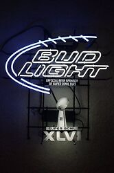 Bud Light Nfl Super Bowl Xlvi 46 2012 Neon Sign Indy Indianapolis New In Box