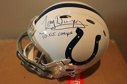 Tony Dungy Signed Indianapolis Colts Full Size Riddell Proline Revolution Helmet