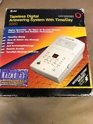 Atandt Digital Tapeless Answering System • Message Guard Memory• Model As60