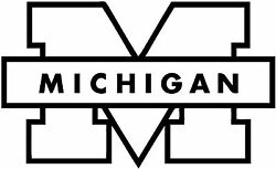 Michigan University Decal Sticker For Car Or Truck Or Laptop