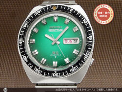 Seiko 5 Actus 6106-8120 Vintage Day Date Green Automatic Mens Watch Auth Works
