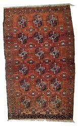 Handmade Antique Afghan Baluuch Rug 3and039 X 5and039 92cm X 155cm 1900s - 1c381