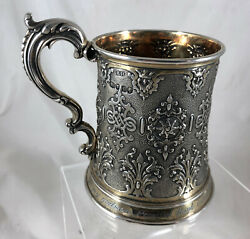 Early Victorian Silver And Parcel Gilt Christening Mug Robert Hennell 1852 Bezx