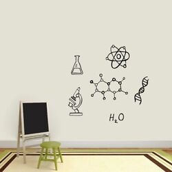 Chemistry Set Wall Decals - Science Kids Classroom School Office Decals Stickers
