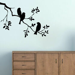 Birds On A Branch Wall Decal, Nursery Kids Bedroom Trees And Branches Wall Decor
