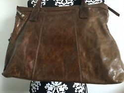hobo international handbag brown leather used in excellent condition $55.00