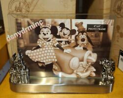 Disney Parks Mickey And Cinderella Castle 4x6 Photo Picture Frame