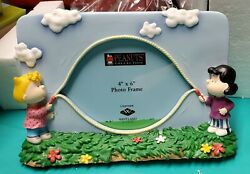 Snoopy Peanuts Lucy And Sally Jump Rope Frame Westland 8383 New In Box