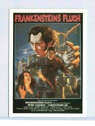 Christopher Lee And Peter Cushing Signed Curse Of Frankenstein Photo Bas Coa Rare
