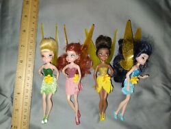 Htf Rare Disney Tinkerbell Tink And Friends Fairy Fairies 6 Doll Figures Lot