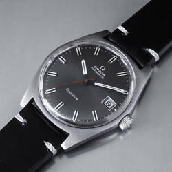 Omega Geneve Ref.166.641 Vintage Overhaul Gray Automatic Mens Watch Auth Works