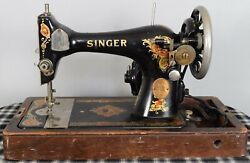 Antique Singer Sewing Machine Serial No. Aa147703 Celebrity Interest