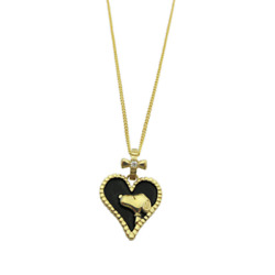 [anime Goods] Snoopy Silver Pendant/necklace/heart/black/japan Limited/brand New