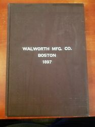 Antique 1895 Watworth Catalog Plumbing Steam And Tools Hardware Hc