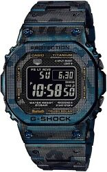 Casio G-shock Bluetooth Equipped Radio Solar Gmw-b5000tcf-2jr Menand039s Camouflage