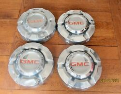 69-75 Gmc 1/2 Ton Dog Dish Chrome Hubcap 10 Set Of 4 Pickup Truck 15and039 C10 C15