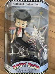 New Precious Kids Betty Boop Collectible Fashion Poseable Doll Biker W Stand 13