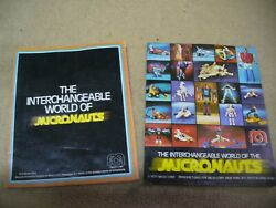 1970's Vintage Micronauts Toy Insert Catalogs Lot Of 2x