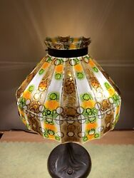 Vintage Higgins Style Psychedelic Fused Art Glass Lamp Shade