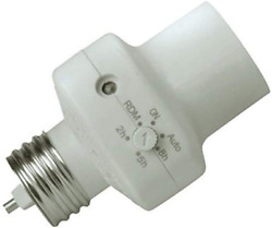 Woods 59406wd Indoor Light Control Socket With Photocell Timer Compact Design